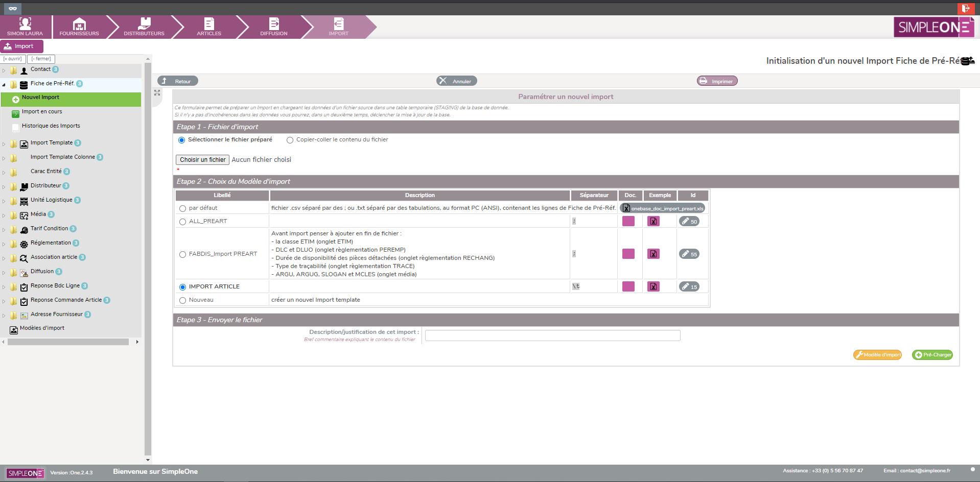 SimpleOne Réaliser des imports automatisés de vos données produits